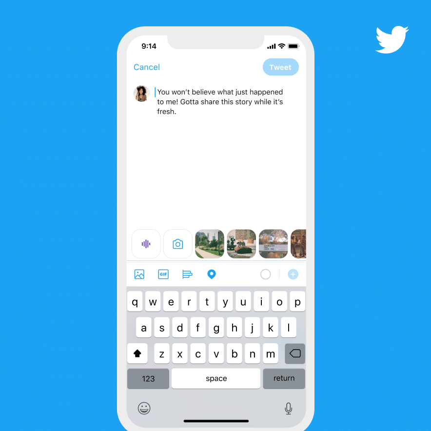 How to tweet with voice