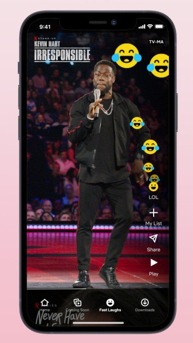 Netflix creates 'Fast Laughs', a TikTok clone to Fast Laughs