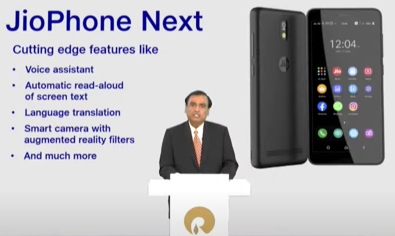 JioPhone Next specification