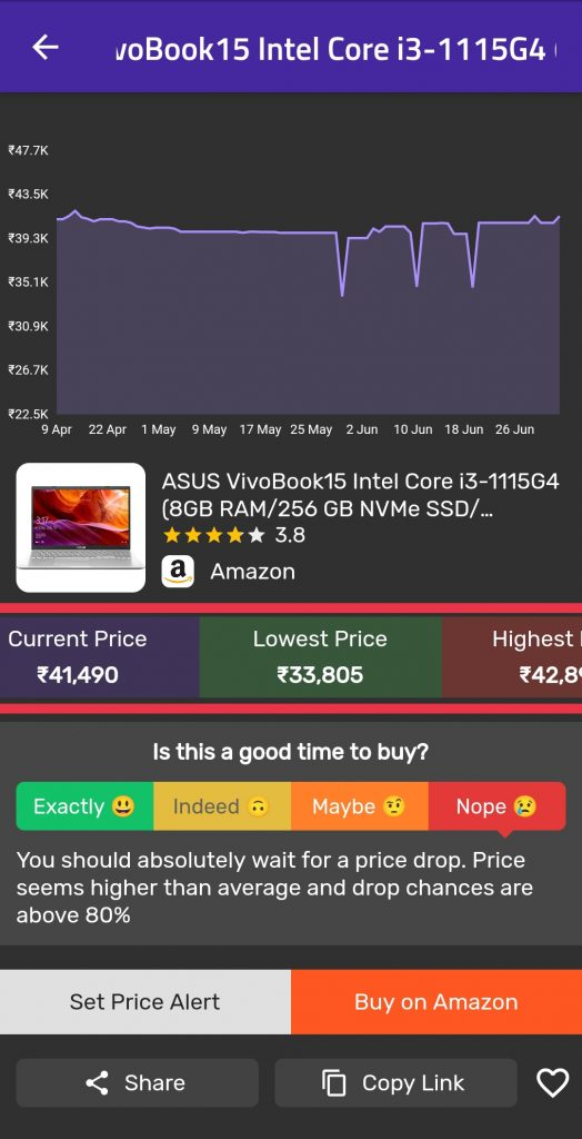 How to check price history on flipkart
